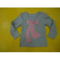Quality Big Bow Chest  Girls Stylish Top Girls Crew Neck T Shirt Top Nice Hand Feel wholesale
