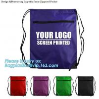 Reusable easy carry tote eco friendly foldable polyester folding shopping bag