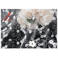 Quality Allover Floral Embroidered Mesh Lace Fabric With Poly Milky Silk By 100% Inspect wholesale