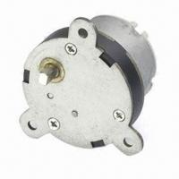 China 12V DC Speed Reducer with Dia 40mm Gearbox, Dia 5mm Offset Shaft and 0.6kg.cm Torque at 55.3rpm on sale