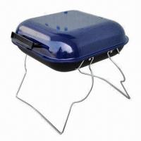 China 14-inch Portable Barbecue Grill with 0.6mm Thickness, Measuring 36.5 x 36.5 x 49cm on sale