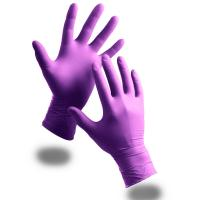 Buy cheap Disposable examin Nitrile Gloves,Powder Free, purple, blue, S M L XL size of from wholesalers