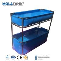 China MolaTank PVC Tarpaulin Collapsible Fish Farming Tank Portable 300 Gallon FishTank on sale