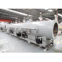 China 110 - 315 MM PVC PP Plastic Pipe Moulding Machine With Double Cavity Vacuum Sizing Tank on sale