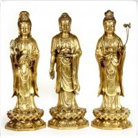 Quality Realistic Ancient Outdoor Brass Statue Sculptures Decoration For Public wholesale