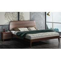 Cheap 2017 New Walnut Wood Bedroom Furniture Nordic design King size bed for sale