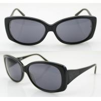 Quality Black Handmade Acetate Frame Sunglasses For UV Protection wholesale