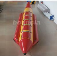 Quality Red 0.9 mm Thick PVC Tarpaulin Inflatable Banana Boat For Lake / Sea wholesale