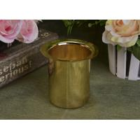 400ml Golden Electroplated Decorative Taper Stainless Steel Metal Candle Holders