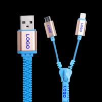 Quality Samsung  Iphone  Zipper USB Data Cable High Speed USB 2.0 Data Transfer Rates wholesale