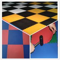 Quality 3W Oil Resistance Plastic PVC Click Interlocking Flooring Tiles wholesale