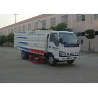 Quality High Pressure Water Circuit Road Sweeper Truck 4x2 5500 Liters For ISUZU wholesale