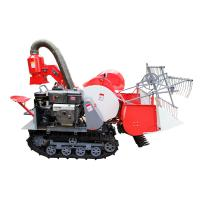 Quality Paddy selfpropell full feeding rice combine harvester 4LZ-0.8 1.2m harvesting machine wholesale