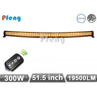 Quality 51.5 Inch 300W Curved Led Light Bar Amber White Flashing Remote Control wholesale