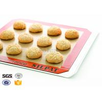 China Food Grade Non Stick Silicone Baking Mat Heat Resistant 42cm - 28cm on sale