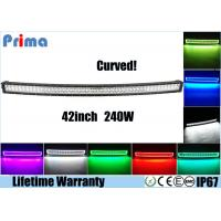 Quality Curved 240W 42 Inch LED Light Bar , Colorful RGB Halo Ring LED Flash Light Bar wholesale