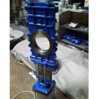 Quality CL150/PN16 CF8M STAINLESS STEEL CI/GG25/GGG40/A216 WCB WAFER OR FULLY LUGGED THROUGH GOING KNIFE GATE VALVE wholesale