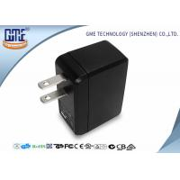 Quality Portable USB Travel Adaptor Single Port 5v 0.5A Black Color For Cell Phone wholesale