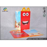 China Custom Made Cardboard Takeaway Boxes Glossy Lamination Finish For Fast Food on sale
