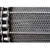 Quality Stainless Balanced Weave Wire Mesh Conveyor Belt With Chain , 10 - 30m / Roll wholesale