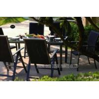 China Foldable Patio Table And Chairs Set , Wicker Patio Furniture Sets For Hotel / Home on sale