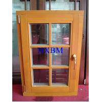 China Space Saving Timber Casement Windows , Safety Wooden Double Glazed Windows energy saving on sale