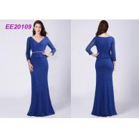 Quality A - Line Floor Length Mother Of The Bride Formal Gowns Lace Evening Dresses wholesale