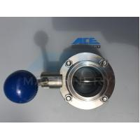 Quality Sanitary Stainless Steel Butterfly Valve with Tri-Clamp Ends (ACE-DF-3T) wholesale