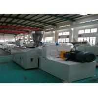Quality Computer Control PVC Pipe Extrusion Line , Twin Screw Pvc Tube Making Machine wholesale