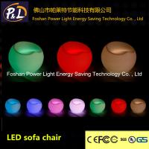 Quality RGB PE Plastic Round Bar Stool with LED wholesale