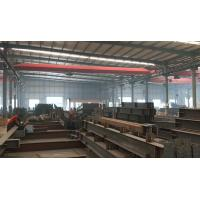 Quality Sandwich Panel Steel Portal Frame Building , Steel Shop Buildings With Sliding Door wholesale