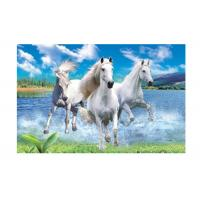 Quality Runnig Horse 3D Lenticular Pictures For House Decorative 0.6mmPET wholesale