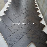 Cheap White Oak Parquet Herringbone (stained wenge color) for sale