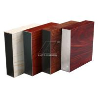 Cheap High Intensity Square Alloy Aluminum Extrusion Profiles With Different Colors for sale