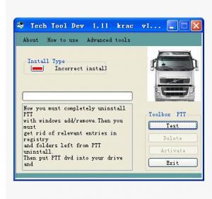 China Volvo PTT 1.12 Keygen Volvo Truck Diagnostic Software Service Activation on sale