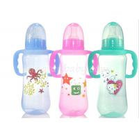Quality Colored baby feeding bottles with Handles , milk bottle for baby Normal Neck wholesale