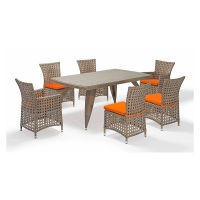 Quality Rust Proof Chair 7 Piece Rattan Table And Chairs SGS Certificate wholesale