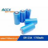 Cheap CR123A 3.0V 1700mAh camera battery for sale