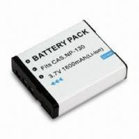 Quality Digital Camera Battery, Suitable for Casio NP-130 Battery Pack, with 1,800mAh Capacity/3.7V Voltage wholesale