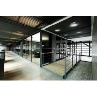 Quality Custom Modern Office Partitions / Sound Proof Double Glazed Partition Wall With Blinds wholesale