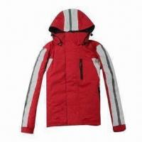 Quality PU-coated children's ski jacket with hood, waterproof and breathable wholesale