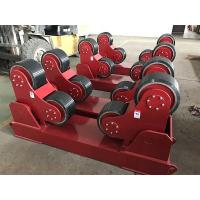 China Exported Red Color Self Aligning Heavy Duty Roller Stand Beds With 380 / 550v Voltage on sale