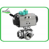 Cheap Food Grade 3 Way Sanitary Ball Valves  Male / Female Thread , Floating Ball Core Structure for sale