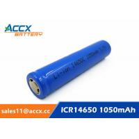 Quality cordless telephone battery ICR14650 3.7V 1050mAh li-ion batteries 14650, 14500, 18500, 18650, 26650 for led light wholesale