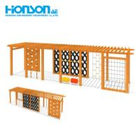 Quality Custom outdoor climbing wall wooden Amusement playground frame Equipment wholesale