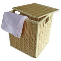 Quality Square Polyrattan Laundry Basket towel basket hamper With Lid wholesale