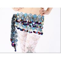 Quality Shinning Beautiful Belly Dancing Hip Scarves With Colorful Paillette For Children wholesale