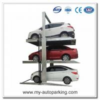 China Two Post Triple Parking Lift 3 Level Parking Lift Vertical Storage Stacker on sale