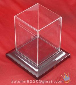 Quality BO (156) acrylic display case with wood base wholesale