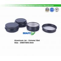 Quality Matte Black color 30ml Cosmetic Packaging Face Body Care Cream Empty Aluminum Container Jars wholesale